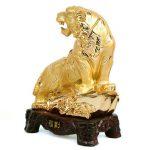 เสือทองฐานไม้ ไซส์ 8 นิ้ว
