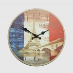 นาฬิกาติดผนัง Style Vintage รุ่น Paris หอไอเฟล