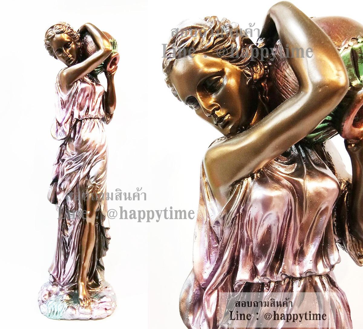 รูปปั้นเรซิ่นรูปหญิงสาว