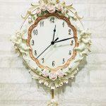 นาฬิกาติดผนัง Vintage รุ่นคิวปิดดอกกุหลาบ