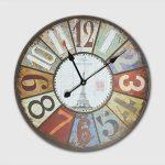 นาฬิกาติดผนังสไตล์วินเทจ รุ่น Paris Made in 1889 หอไอเฟล