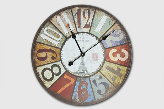 นาฬิกาติดผนังสไตล์วินเทจ