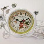 นาฬิกาตั้งโต๊ะ Vintage Style รุ่นตะกร้าขาว