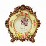 กรอบรูปตั้งโต๊ะโบราณ รูปดอกกุหลาบวินเทจ