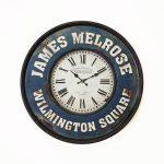 นาฬิกาติดผนังตกแต่งบ้าน รุ่น JAMES MELROSE