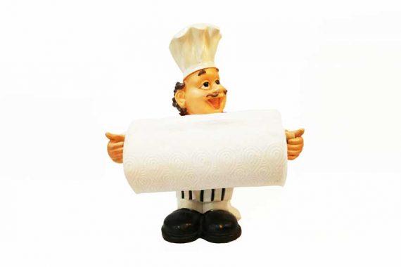 พ่อครัวถือกระดาษ