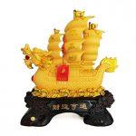 เรือหัวมังกรจีน สีทอง